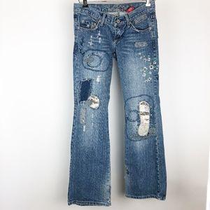 Vanilla Star Size 3 Denim Distressed Jeans
